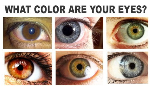 different colors of eyes