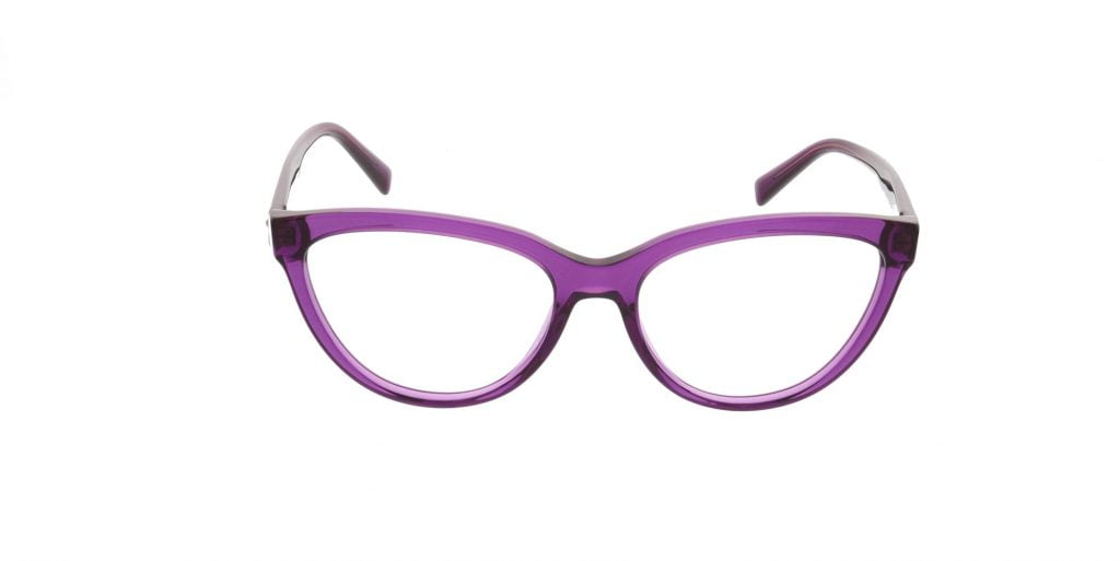 purple cat eye versace glasses
