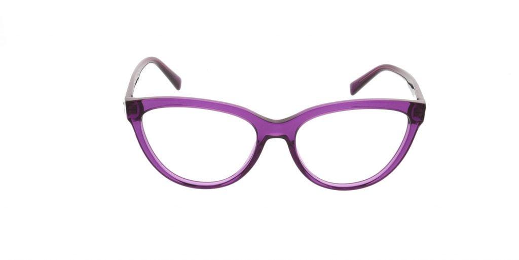 purple cat eye versace glasses
