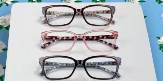 draper james glasses with floral temple designs