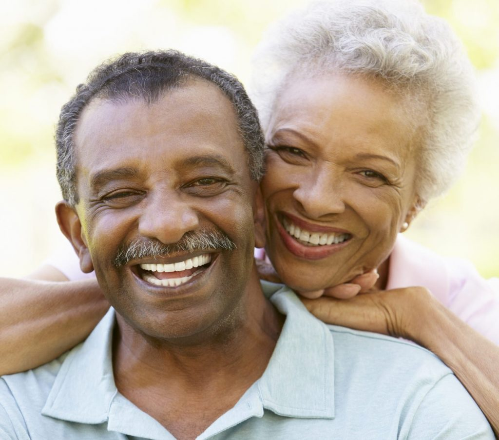 african american couple smiling