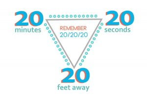 20-20-20 screen time rule graphic