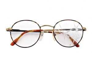 glasses with broken lenses