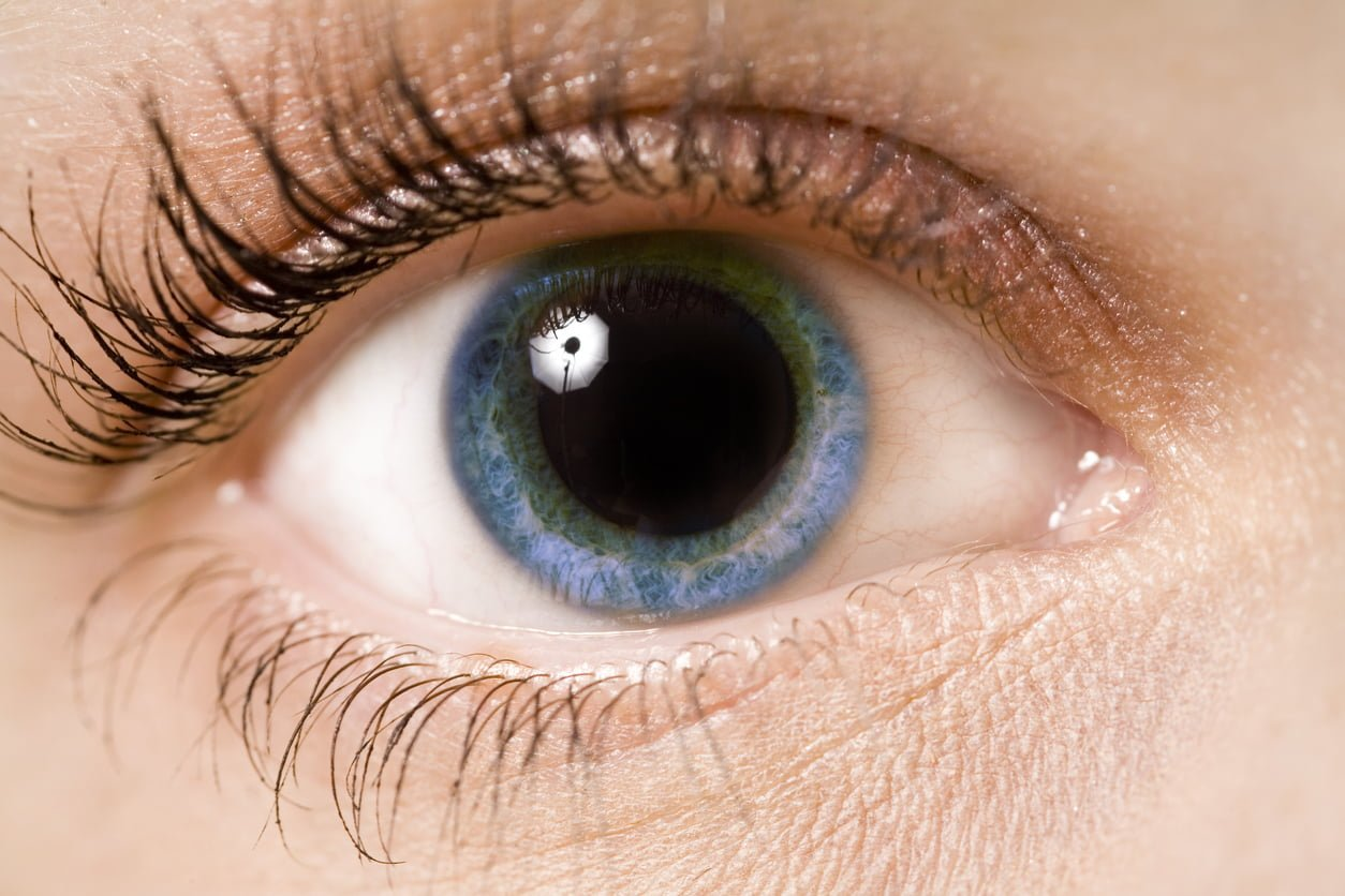 A young woman's eye - close up