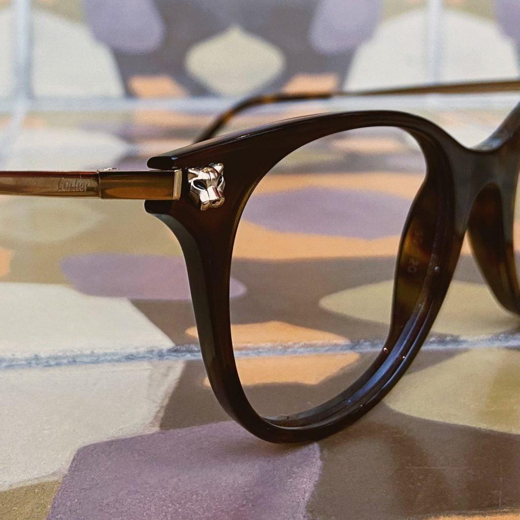 cartier eyewear panther detail